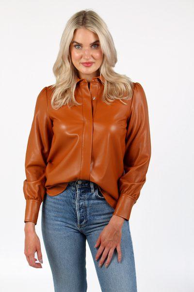 Crolenda PU Shirt, French Connection, e.Allen, Nashville, Franklin, Murfreesboro