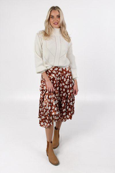 Aimee Tiered Midi Skirt, French Connection, e.Allen, Nashville, Franklin, Murfreesboro
