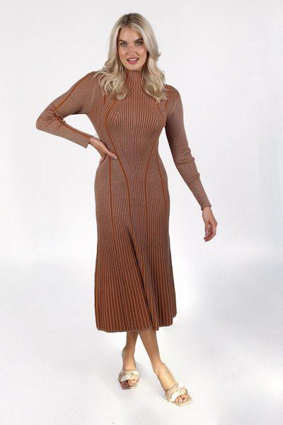 Mari Rib Knitted Midi Dress, French Connection, e.Allen, Nashville, Franklin, Murfreesboro