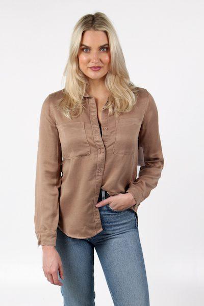 Long Sleeve Two Placket Shirt, Bella Dahl, e.Allen, Nashville, Franklin, Murfreesboro