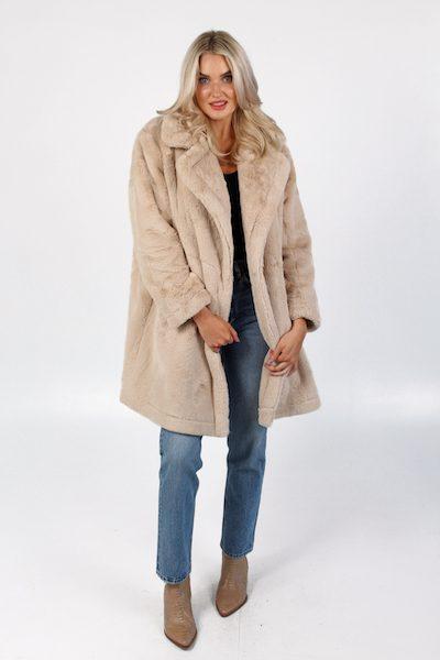 Buona Faux Fur Long Coat, French Connection, e.allen, Nashville, Franklin, Murfreesboro