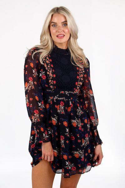 Ella Rose Lace Mix Dress, French Connection, e.Allen, Nashville, Franklin, Murfreesboro