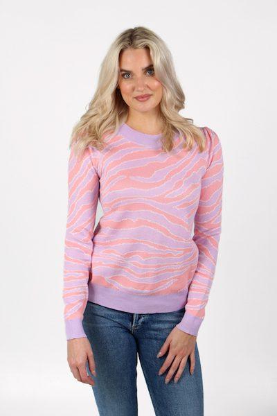 Zebra Puff Sleeve Sweater, e.Allen, Nashville, Franklin, Murfreesboro