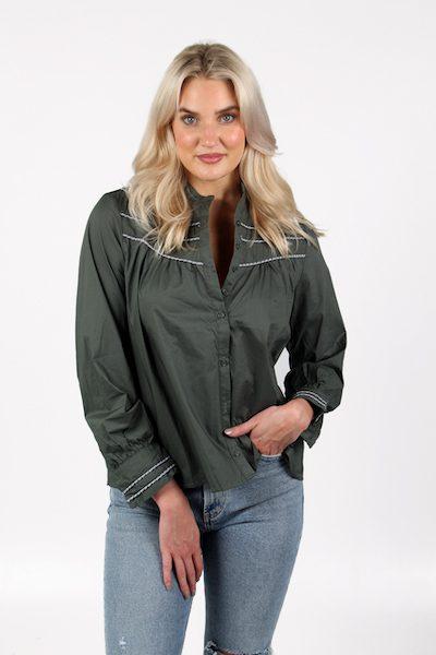 The Gabrielle Shirt in Hunter, The Shirt, e.Allen, Nashville, franklin, Murfreesboro