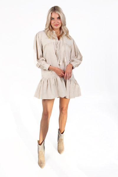 Grove Mini Dress in Oatmeal, Cleobella, e.Allen, Nashville, Franklin, Murfreesboro