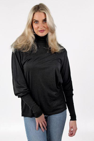 Funnel Neck T Shirt in Black, Agolde, e.Allen ,Nashville, Franklin, Murfreesboro